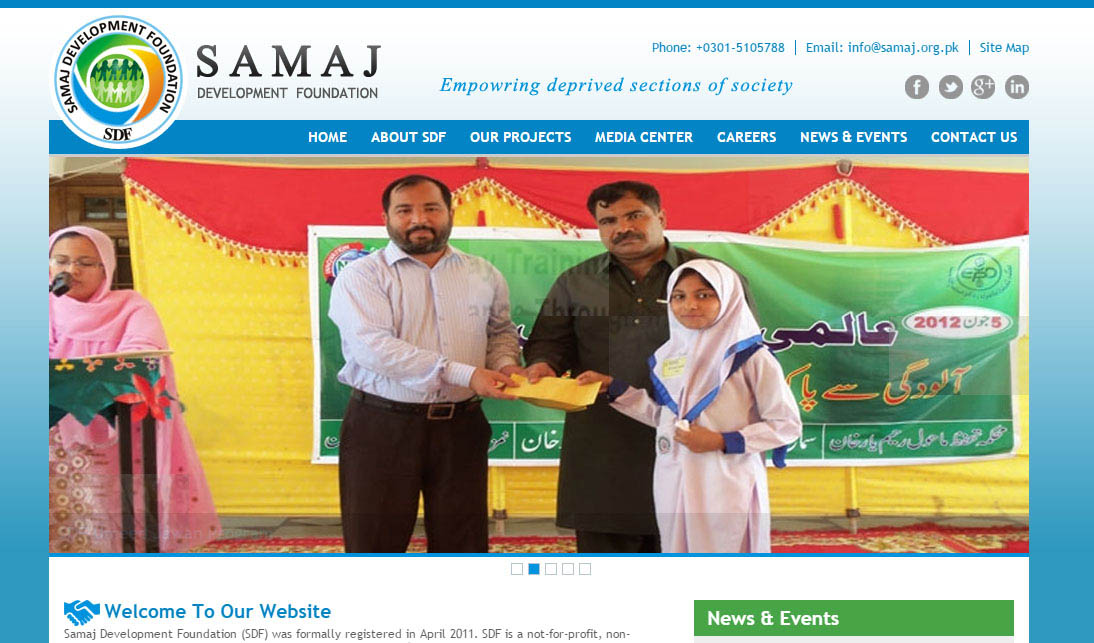 Samaj Development Foundation - Website Developed By Xpert Logix
