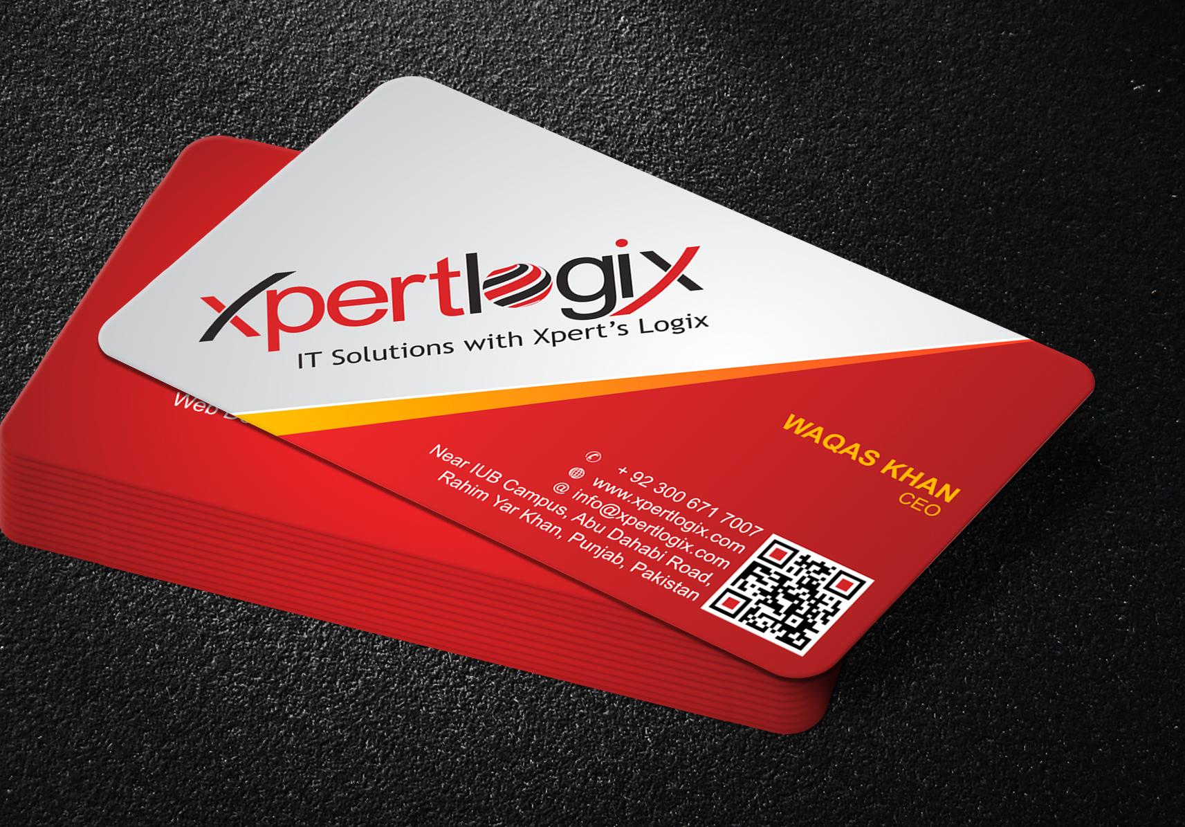 business card design xpert logix